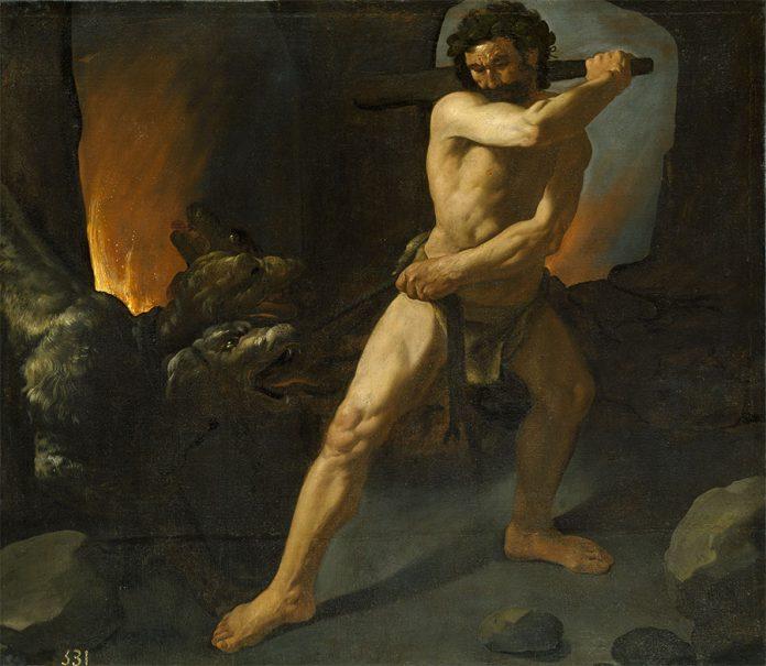 Hércules y el Cancerbero. Francisco de Zurbarán (1598–1664). Museo del Prado (Madrid)